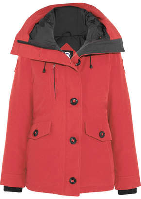 Canada Goose - Rideau Shell Down Parka - Red $700 thestylecure.com