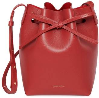 Mansur Gavriel Saffiano Mini Bucket Bag in Flamma