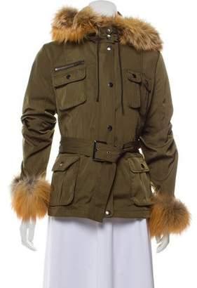 Jocelyn Hooded Fur-Lined Jacket w/ Tags