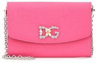 Dolce & Gabbana Embellished leather shoulder bag