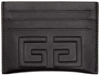 Givenchy Black Debossed 4G Card Holder