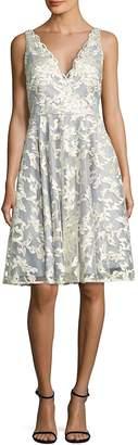 Aidan Mattox Women's Embroidered Fit-&-Flare Dress