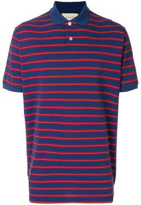 Gucci stonewashed stripe polo shirt