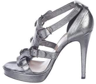 Christian Louboutin Leather Buckle Sandals
