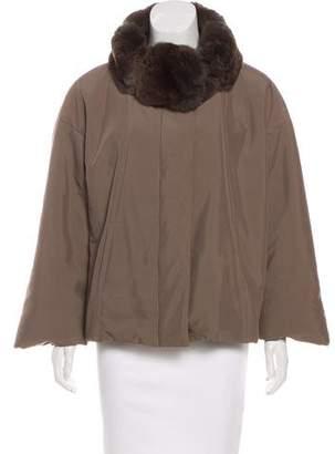 Loro Piana Chinchilla-Trimmed Puffer Jacket