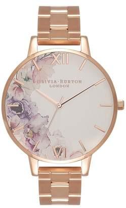 Olivia Burton Watercolour Florals Bracelet Watch, 38mm
