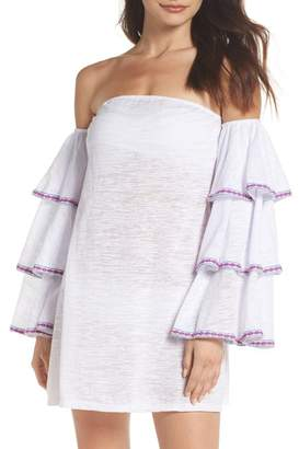 Pitusa Off the Shoulder Cover-Up Dress