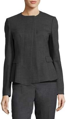 HUGO BOSS Women's Jadela Sable Virgin Wool Business Jacket