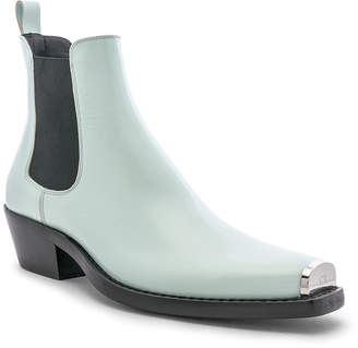 Calvin Klein Western Chris Spazzolato Boot in Mist | FWRD
