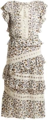 Sea Rosalie floral-print lace-trimmed dress
