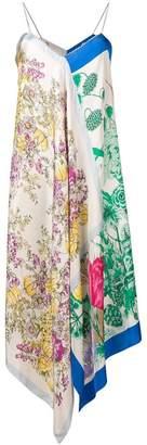 Semi-Couture Semicouture printed handkerchief dress