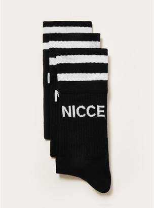 Topman Mens NICCE Black Tube Socks 3 Pack