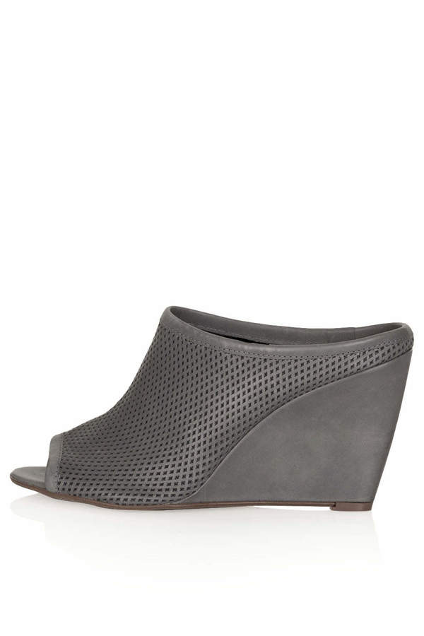 Topshop Waltz perforated mule shoes