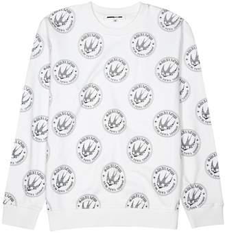 McQ Swallow Badge-print Cotton Sweatshirt