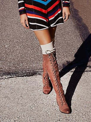 Joe Lace Up Boot by Jeffrey Campbell x Free People $298 thestylecure.com