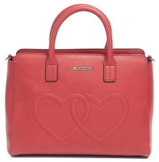 Love Moschino Embossed Hearts PU Handle Bag