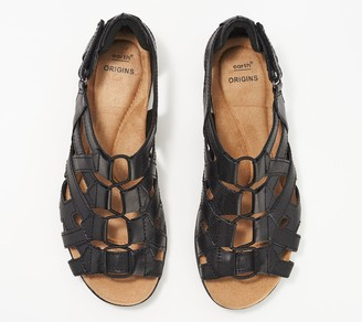 5735a3cdf24ba7 Earth Origins Leather Gladiator Sandals - Belle Bridget