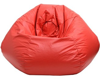 """Gold Medal Extra Small 84"""" Red Faux Leather Bean Bag"""