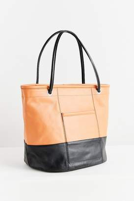 Urban Outfitters Colorblock Leather Bucket Tote Bag