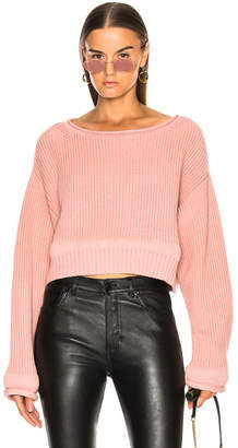 Alexander Wang Chunky Trim Wide Neck Sweater