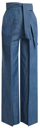 Vika Gazinskaya Tie-waist wide-leg denim trousers