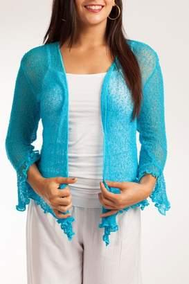 Baik Baik Rainbow Crochet Bolero $48 thestylecure.com