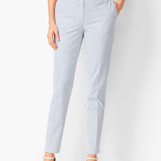 Talbots Lightweight Seersucker Slim Ankle Pants
