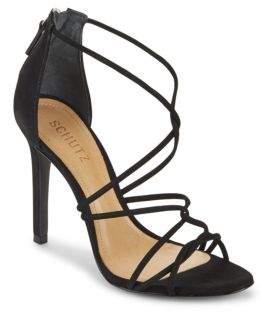 Schutz Myrcella Strappy Leather Stiletto-Heel Sandals