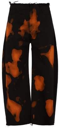 Marques Almeida Marques'almeida - Bleached Straight Leg Jeans - Mens - Black