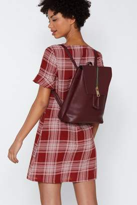 Nasty Gal WANT Back At You Faux Leather Backpack