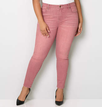 Avenue Washed Skinny Jean in Mauve