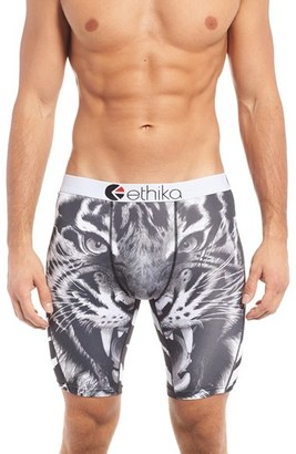 Men's Ethika Tiger Face Stretch Boxer Briefs $25 thestylecure.com