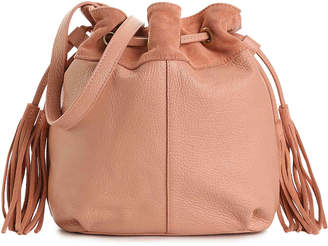American Eagle Outfitters Drawstring Leather Bucket Bag - Women's