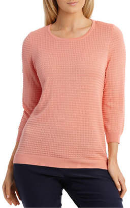 Regatta NEW Must Have Circle Textured 3/4 Sleeve Jumper Peach