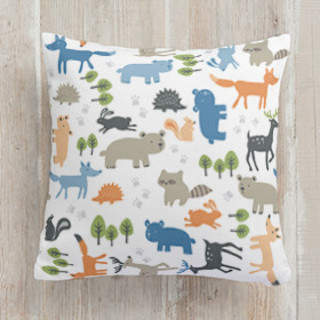 Forest Friends Square Pillow