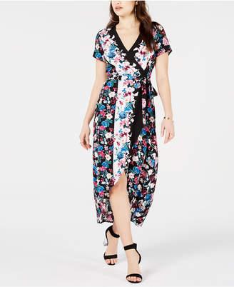 GUESS Printed Wrap Dress