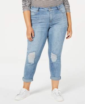 Celebrity Pink Plus Size Ripped Girlfriend Jeans