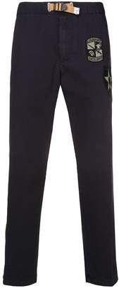White Sand multi-patches trousers