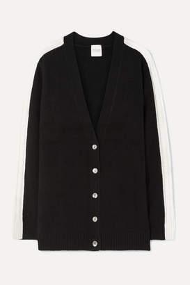 Madeleine Thompson Jasper Cable-knit Cashmere Cardigan - Black