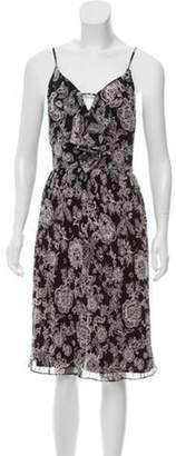 Ella Moss Printed Midi Dress w/ Tags Black Printed Midi Dress w/ Tags