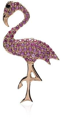 Ileana Makri sapphire and black diamond flamingo necklace