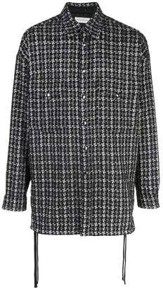 Faith Connexion oversized houndstooth pattern shirt