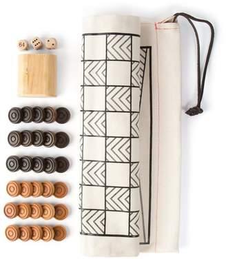 Studio Nicco Travel Backgammon & Checkers Game Bag Set