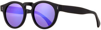Illesteva Leonard Monochromatic Round Two-Tone Sunglasses