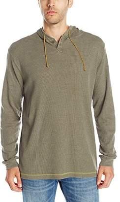 Burnside Men's Izzy Long Sleeve Henely Thermal Hoodie