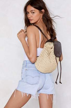Nasty Gal Tie the Knot Woven Backpack