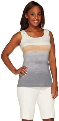 Susan Graver Weekend Printed Cotton Modal Tank Top