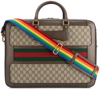 Gucci Leather Rainbow Strap GG Briefcase