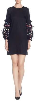 Catherine Malandrino Dahl Embellished-Sleeve Dress