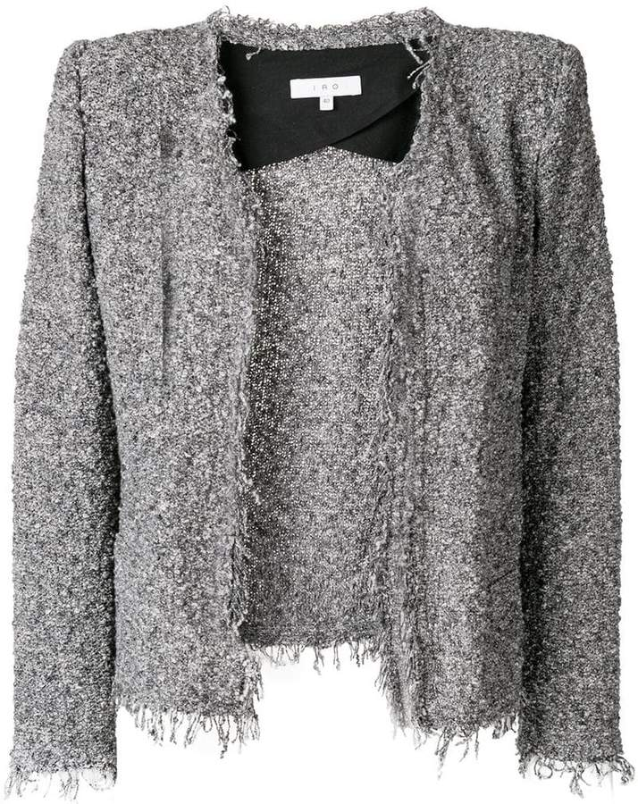 fringed fitted jacket
